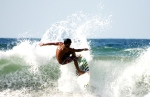 Pro surfer showing off his skills in La Union